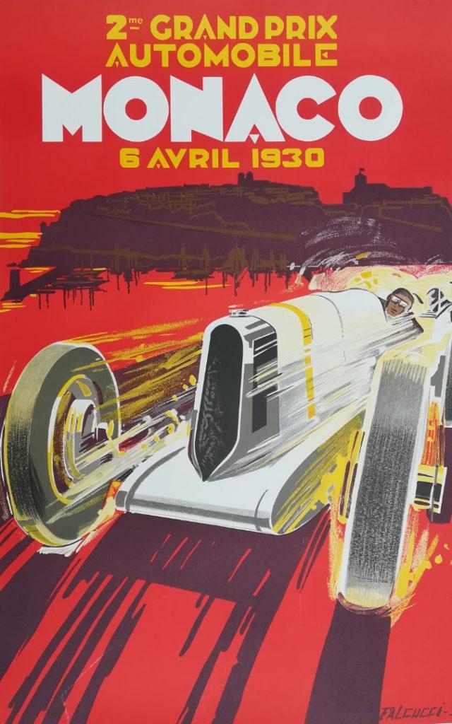 Monaco Grand Prix 1930 poster